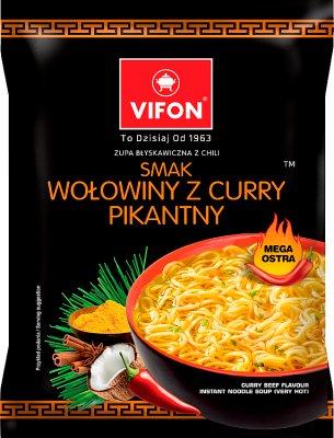 Vifon Zupa błyskawiczna  smak wołowiny z curry pikantny