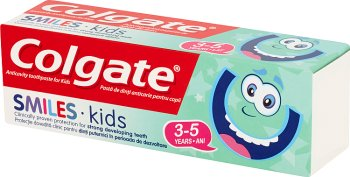 Colgate Smiles Kids Przeciwpróchnicza pasta do zębów dla dzieci 3-5 lat