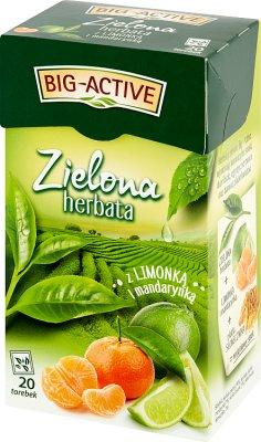 Big Active Zielona herbata z limonką i mandarynką