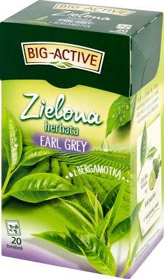 Big Active Zielona herbata Earl Grey z bergamotką
