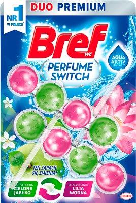 Bref Perfume Switch Zawieszka myjąco-zapachowa do WC Zielone jabłko/Lilia wodna