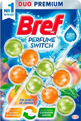 Bref Perfume Switch Zawieszka myjąco-zapachowa do WC Słodka brzoskwinia/Czerwone jabłko