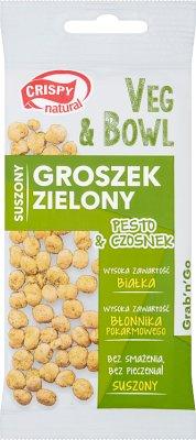 Crispy Natural Veg & Bowl  Groszek zielony suszony,pesto i czosnek