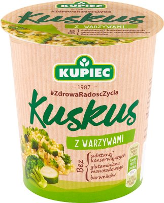 Kupiec Kuskus z warzywami  danie instant