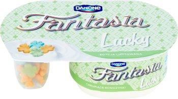 Danone Fantasia Lucky Jogurt kremowy z pszennymi koniczynkami w polewie o smaku mlecznym