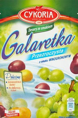 Cykoria Galaretka przezroczysta o smaku winogronowym