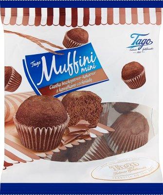 Tago Muffini Mini Ciastka biszkoptowo-kakaowe z kawałkami czekolady