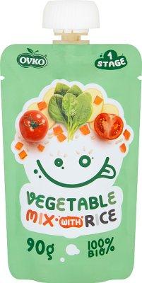 Ovko Ekologiczny przecier  mix warzyw z ryżem BIO