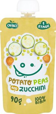 Ovko Ekologiczny przecier ziemniak,groszek,cukinia BIO