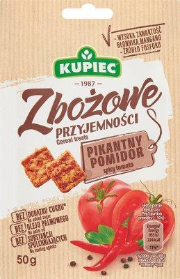 Kupiec Snacki Zbożowe przyjemności  pikantny pomidor