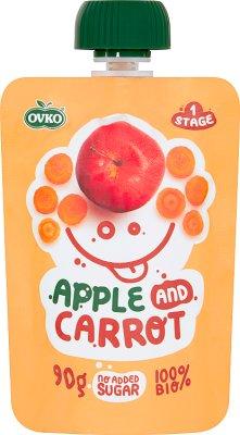 Ovko Ekologiczny przecier jabłko,marchew BIO