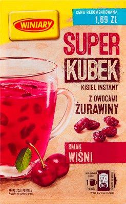 Winiary Super kisiel smak wiśni z owocami żurawiny