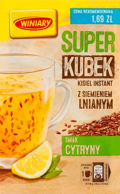 Winiary Super kisiel smak cytryny z siemieniem lnianym