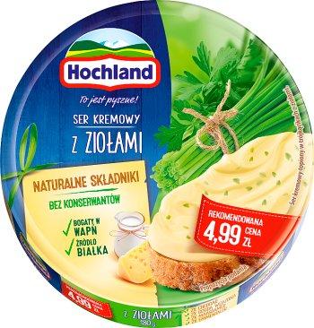 Hochland serek topiony,  8 trójkątnych porcji z ziołami