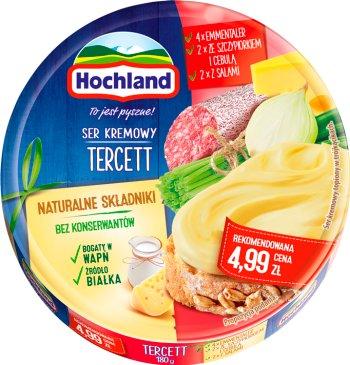 Hochland serek topiony,  8 trójkątnych porcji,tercett