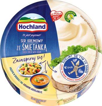 Hochland Serek topiony,  8 trójkątnych porcji,śmietankowy