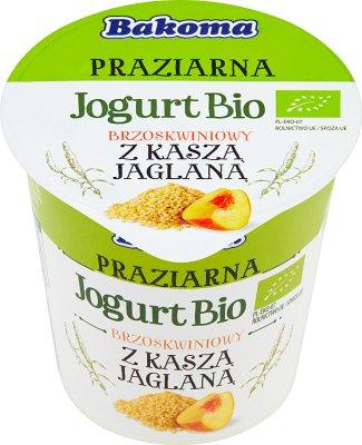 Bakoma Jogurt Bio Praziarna brzoskwiniowy z kaszą jaglaną
