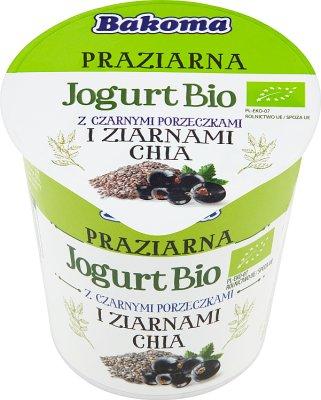 Bakoma Jogurt Bio Praziarna z czarnymi porzeczkami i ziarnami chia