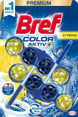 Bref Color Aktiv Zawieszka myjąco-zapachowa do WC Cytryna