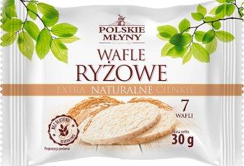 Polskie Młyny Wafle ryżowe extra cienkie naturalne