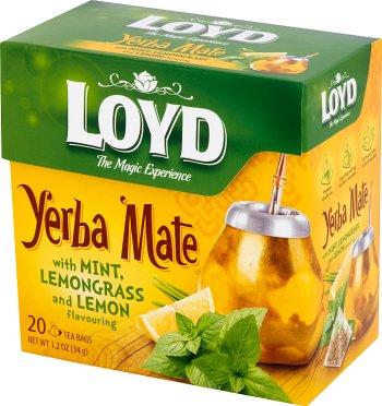 Loyd Yerba Mate Herbata aromatyzowa z miętą i trawą cytrynową o smaku cytryny
