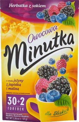 Minutka Owocowa Herbatka z sokiem o smaku jeżyny z jagódką i maliną
