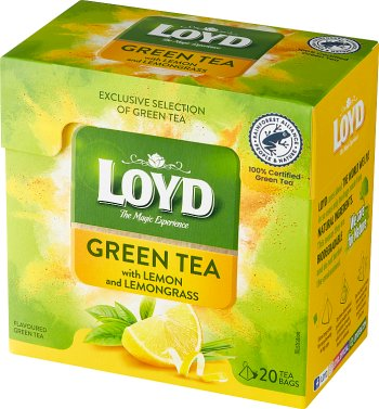 Loyd Aromatyzowana herbata zielona z cytryną i trawą cytrynową