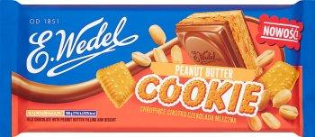 E. Wedel Cookie Czekolada mleczna z nadzieniem peanut butter i herbatnikiem