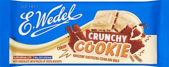 E. Wedel Crunchy Cookie Czekolada biała z ciasteczkami kakaowymi