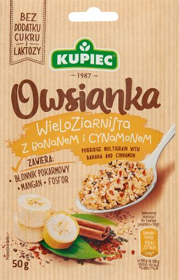 Kupiec Owsianka wieloziarnista z bananem i cynamonem