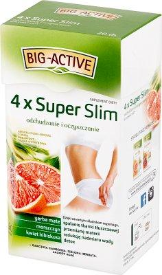 Big-Active 4 x Super Slim Herbatka ziołowo-owocowa Suplement diety