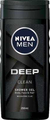Nivea Men Deep Żel pod prysznic do ciała,twarzy i włosów