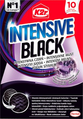 K2r Intensive Black Chusteczki  do prania