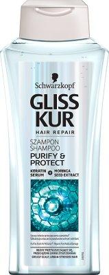 Schwarzkopf Gliss Kur  Purify & Protect Szampon do włosów  przetłuszczających się, przeciążonych zanieczyszczeniami