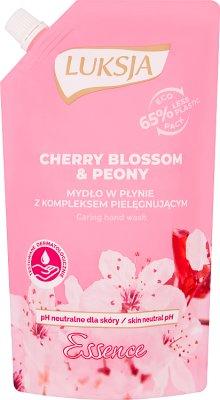 Luksja Essence. Liquid soap. Stock Cherry Blossom & Peony