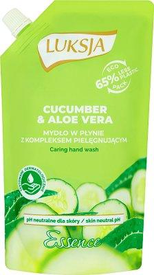 Luksja Essence Mydło w płynie zapas Cucumber & Aloe Vera