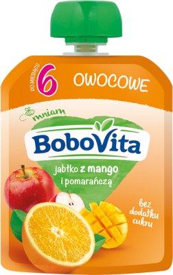 BoboVita Mus owocowy  jabłko z mango i pomarańczą