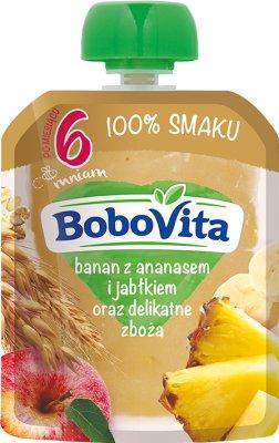BoboVita Mus  banan z ananasem i jabłkiem oraz delikatne zboża