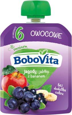BoboVita Mus owocowy  jagody i jabłka z bananem