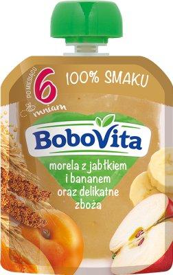 BoboVita Mus  morela z jabłkiem i bananem oraz delikatne zboża