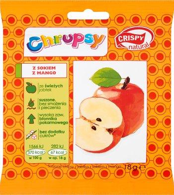 Crispy Natural Chrupsy Suszone  chipsy z jabłka z sokiem z mango