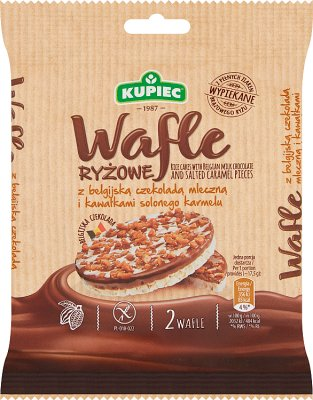 Kupce Rice wafers with milk chocolate and caramel
