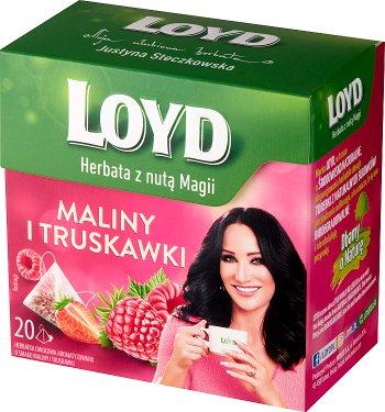 Loyd Herbatka owocowa aromatyzowana o smaku maliny i truskawki