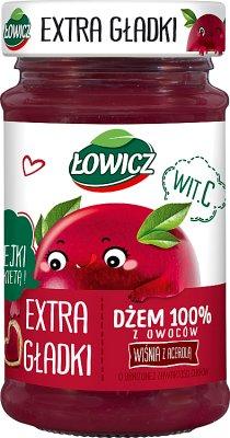 Łowicz Dżem 100% z owoców extra gładki wiśnia