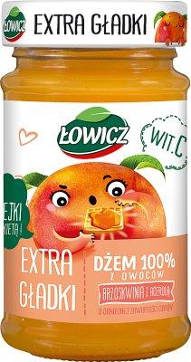 Łowicz 100% mermelada de fruta con un melocotón suave suave