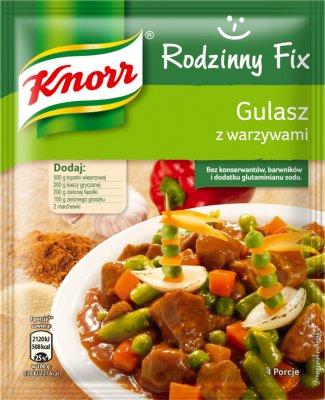 Knorr Rodzinny Fix Gulasz  z warzywami