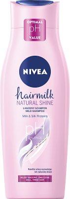 Nivea Hair Milk Natural Shine   Szampon mleczny do włosów matowych i zmęczonych