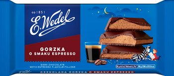 E. Wedel Czekolada gorzka  o smaku espresso