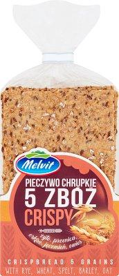 Melvit Crispy Pieczywo chrupkie  5 zbóż