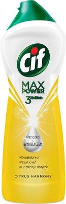 Cif Max Power Mleczko z wybielaczem Citrus Harmony